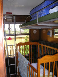 Bedroom compartment with cot